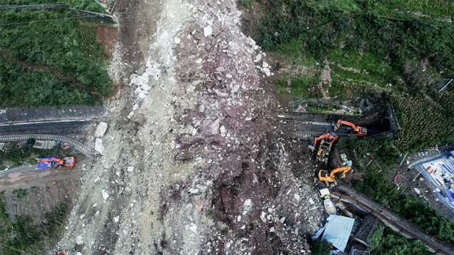 Landslide in Southwest China, 17 Workers Missing