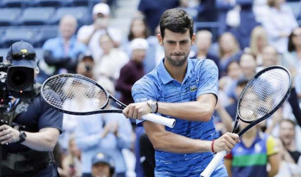 Holder Djokovic Safely Into US Open Second Round