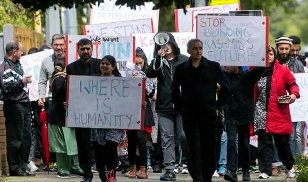 Protest Against India's Anti-Kashmir Held in New Zealand