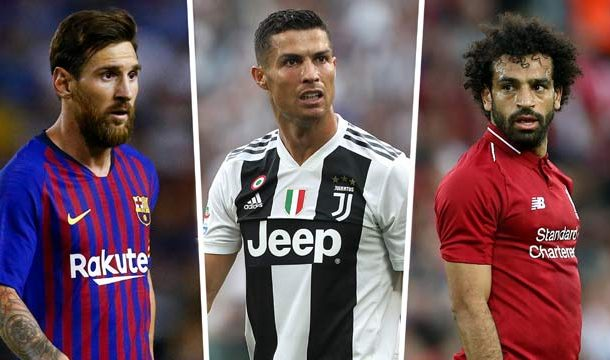 Ronaldo, Messi, Salah, Among Best FIFA Men's Player Nominees List