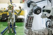 Russia Sends its First Rocket Carring Humanoid Fedor Robot Into Space