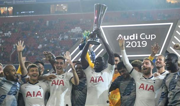 Tottenham Celebrate Audi Cup After Penalty Shootout Win