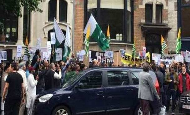Kashmiris in Brussels Stage Protest Over Loss Of Autonomy