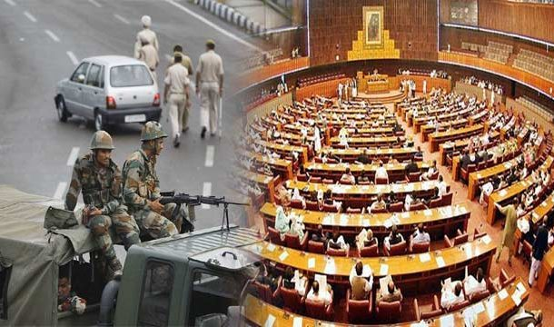 Joint Parliament Session on Occupied Kashmir Underway