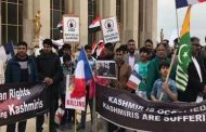 Protest in Solidarity With Kashmir Held Upon Modi's Arrival in Paris
