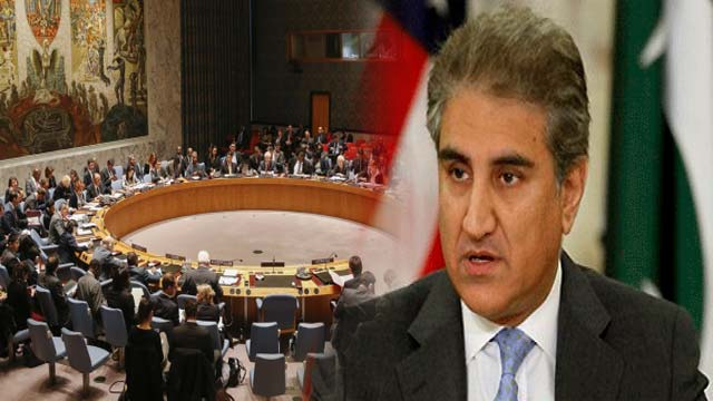 FM Qureshi Pens Another Letter to UNSC Over Kashmir Situation