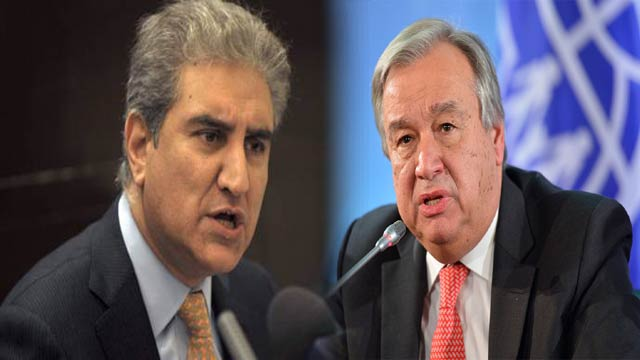 FM Qureshi, UN Chief to Discuss Deteriorating Kashmir Situation