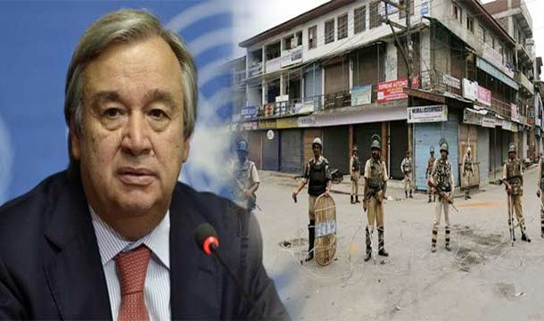 UN Chief Monitoring Restrictions, Mass Arrests  in Occupied Kashmir