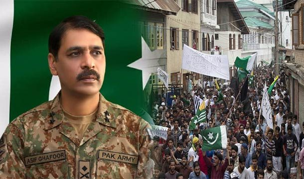 Posters of DG ISPR Surface In Major Streets of Srinagar