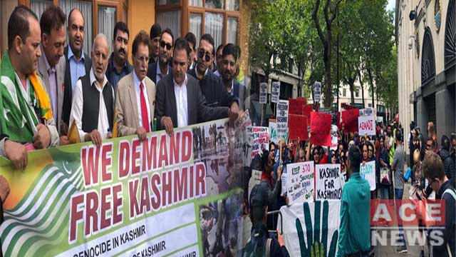 Thousands Protest in London Against Indian Brutalities in Kashmir