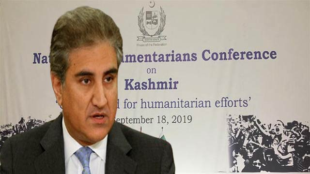 FM Qureshi Urges Opposition To Stand United on Kashmir Dispute