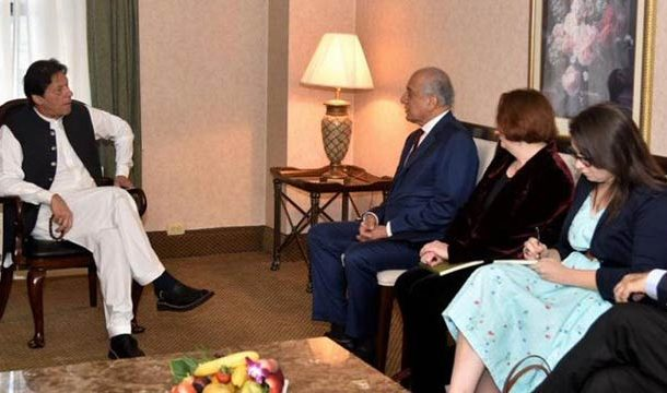 PM Imran, Zalmay Khalilzad Discuss Afghan Peace Process