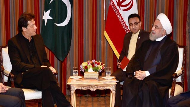 Iranian President Meets PM Imran on Sidelines of UNGA Session