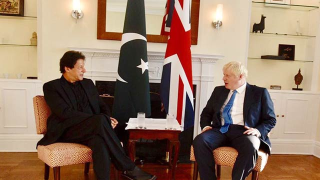 PM Raises Oppression In IOK During Meeting With British Counterpart