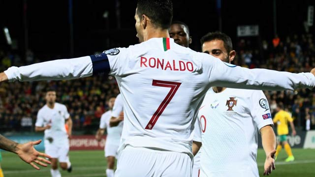Ronaldo Makes History By Scoring Against 40 Different Countries