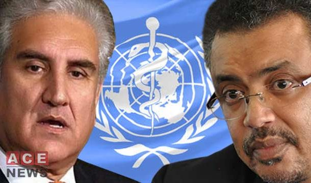 FM Qureshi Briefs WHO Director General on Health Crisis in IOK