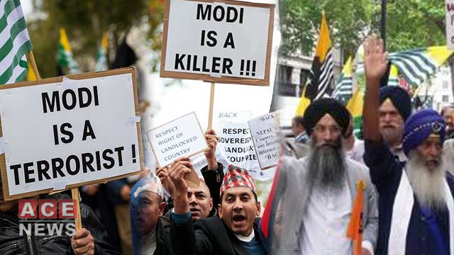Leftists, Sikh Bodies Protests Against India's Illegal Kashmir Move