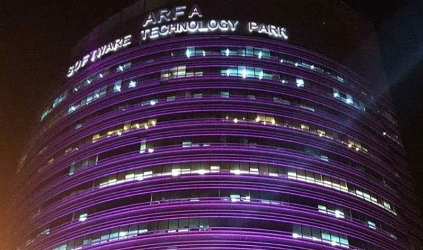 Arfa Tower Turns Pink for Breast Cancer Awareness