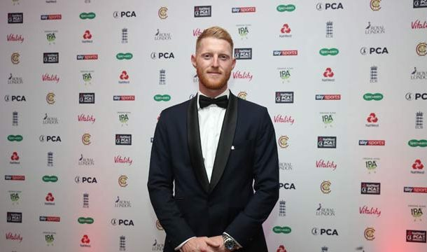 Ben Stokes Wins PCA's 'Player Of The Year Award'