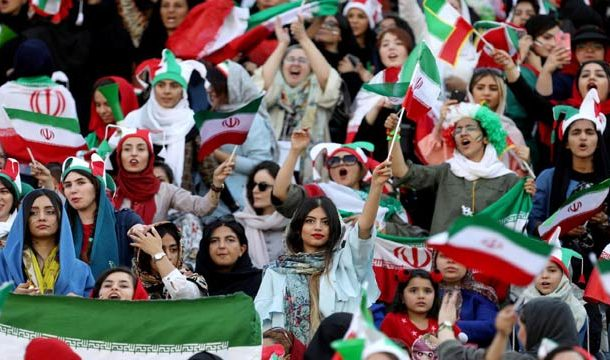 Iranian Women Attend First Football Match in 40 Years