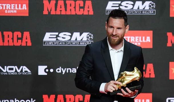 Messi Again Wins Golden Shoe As Top League-Goal Scorer