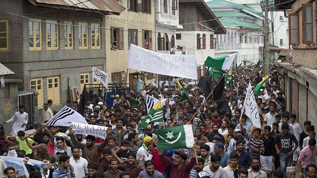 Occupied Kashmir Again Echoed With Anti-India Slogans