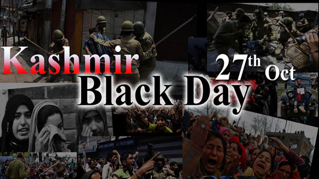 Kashmiris Around the World Observing Black Day Today