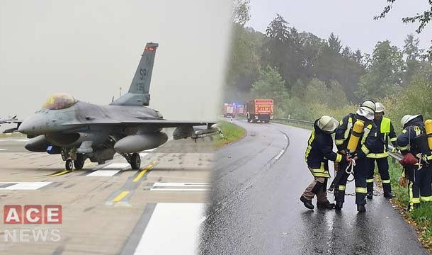 US F-16 Fighter Jet Crashes In Germany