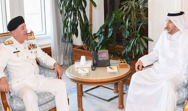 Naval Chief Discuss Pakistan's Stance On Kashmir Issue With Qatari PM