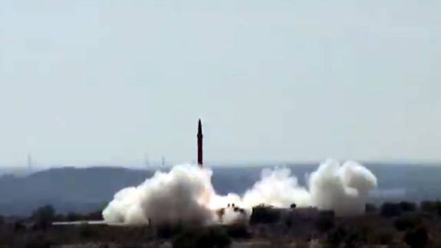 Pakistan Conducts Successful Training Launch Of  Ballistic Missile Shaheen-1