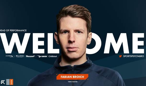 Fabian Broich Hired As Head of Performance, Excel Esports