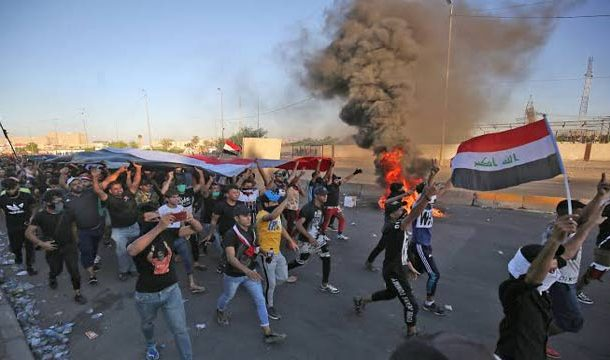 Iraqi Protesters Block Roads, Shutting Offices And Schools