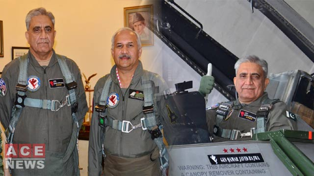 COAS, CAS Fly High in F-16 'Combat Mission Simulation'