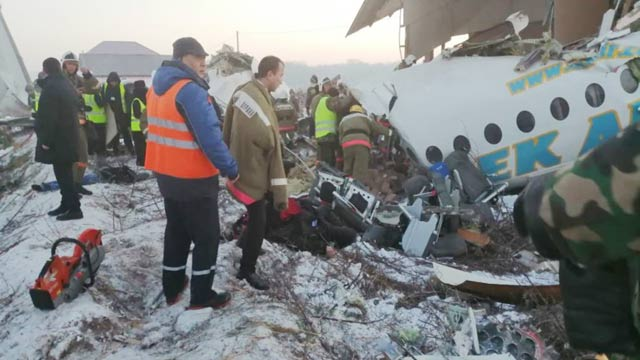 Plane with 100 on Board Crashes in Kazakhstan