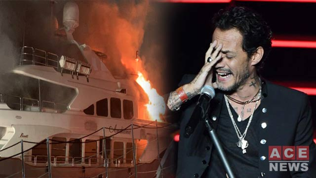 Marc Anthony's $7 Million Yacht Caught Fire and Capsized