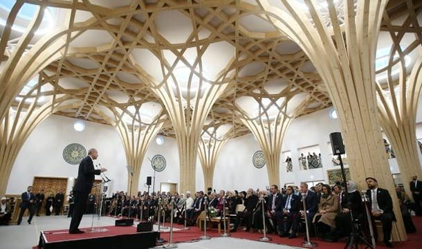 Tayyip Erdogan Inaugurates Europe's First Eco-Friendly Mosque