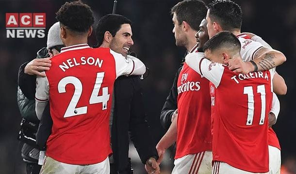Arsenal Beats Man United, 2-0 Under New Manager