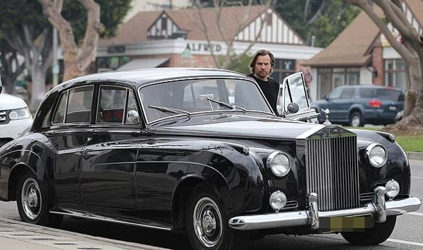 Ewan Mcgregor Shows Off His Vintage Rolls-Royce