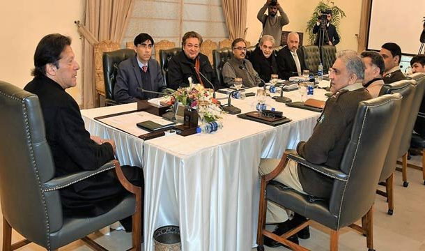 PM Imran Chairs High Level Meeting on Kashmir Crisis