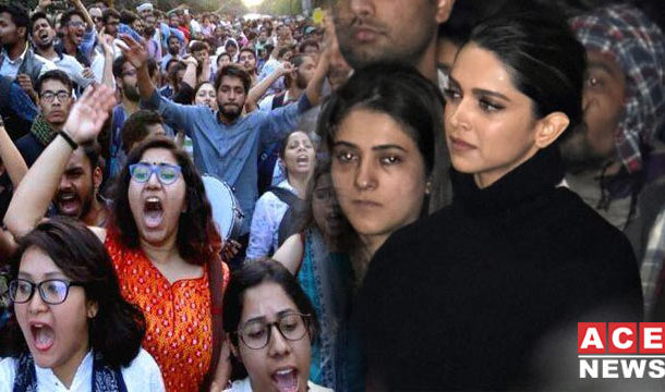Deepika Padukone Joins JNU Protests to Express Solidarity with Students