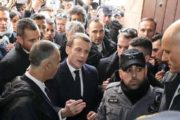 French President Blasts Israeli Police at Jerusalem Church