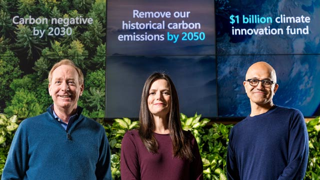 Computer Giant Microsoft Aims to be 'Carbon Negative' by 2030