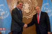 FM Qureshi Meets UN Chief, Discuses Kashmir Crisis