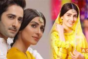 Ayeza Khan Shared Behind the Scenes Photos of Her Upcoming Serial