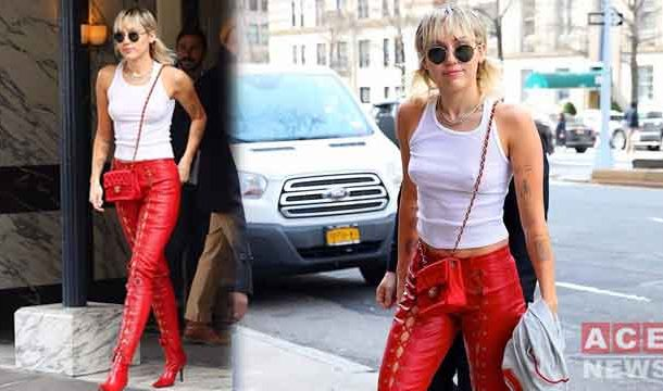 Miley Cyrus looks Gorgeous in Red Ahead of Valentine's Day