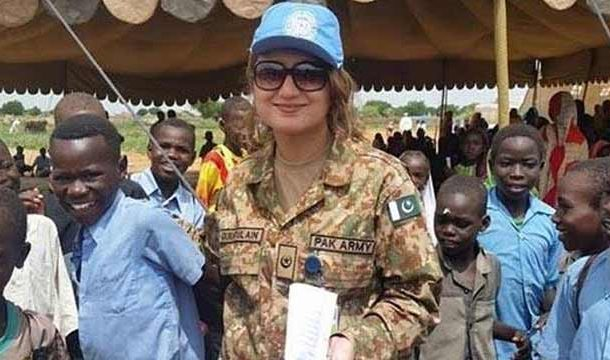 Pakistani Female Army Officers Awarded UN Medal