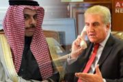 FM Qureshi, Saudi counterpart Discuss Israeli Massacre in Palestine