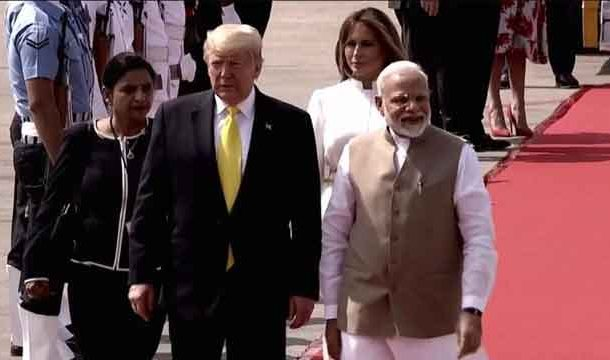 State Visit: US President Donald Trump lands in India