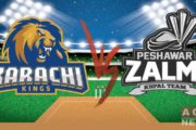 Karachi Kings Beats Peshawar Zalmi by 6 Wickets