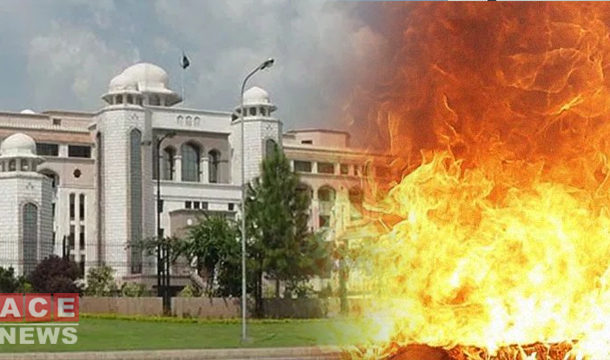Man Sets Himself on Fire Outside the PM House in Islamabad